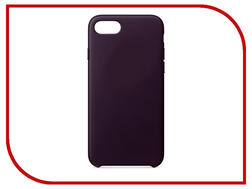 Аксессуар Чехол APPLE iPhone 7/8 Leather Case Dark Aubergine MQHD2ZM/A накладка apple leather case для iphone 7 iphone 8 баклажанный mqhd2zm a