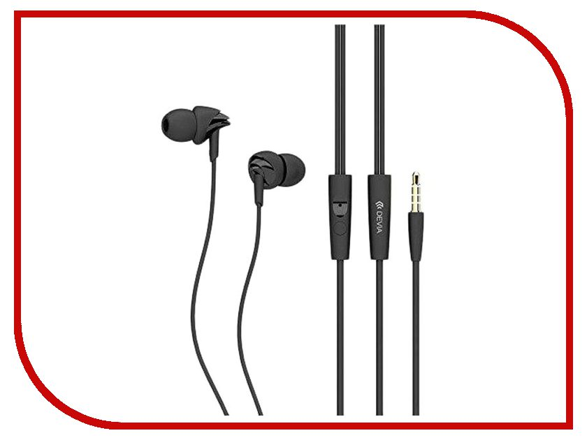 Devia Ripple In-Ear Headphones Black наушники apple urbeats in ear headphones розовый mllh2ze a