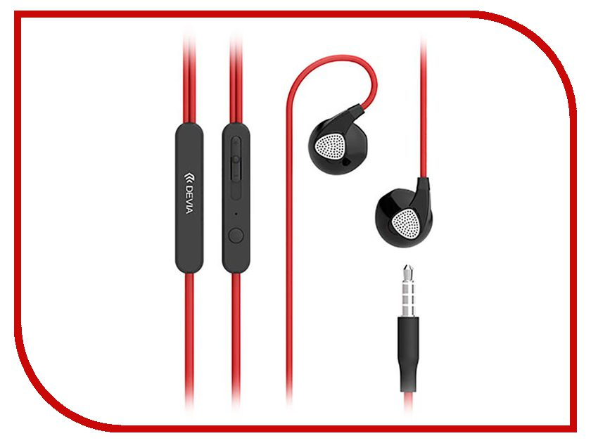 Devia D2 Ripple In-Ear Headphones Red наушники apple urbeats in ear headphones розовый mllh2ze a