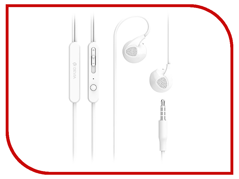 Devia D2 Ripple In-Ear Headphones White наушники apple urbeats in ear headphones розовый mllh2ze a