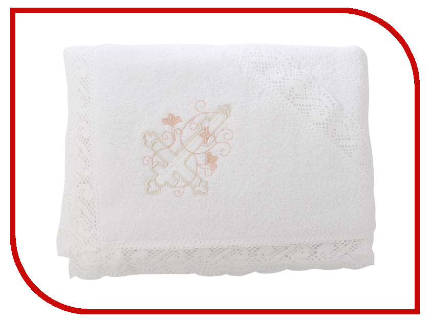 Krestilnoe Кружевное полотенце с капюшоном Анна КПЛ-М02-ОД