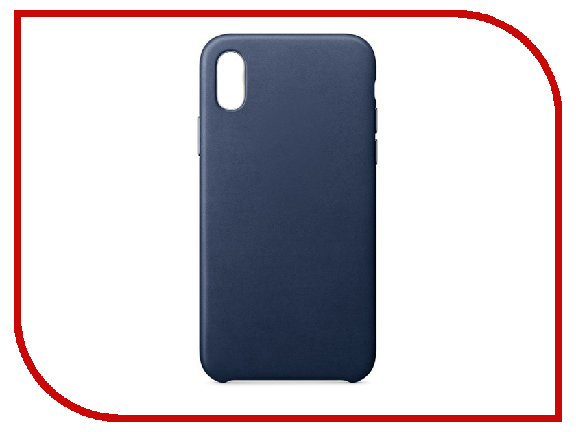Аксессуар Чехол APPLE iPhone X Leather Case Midnight Blue MQTC2ZM/A аксессуар чехол apple iphone 7 8 leather case midnight blue mqh82zm a
