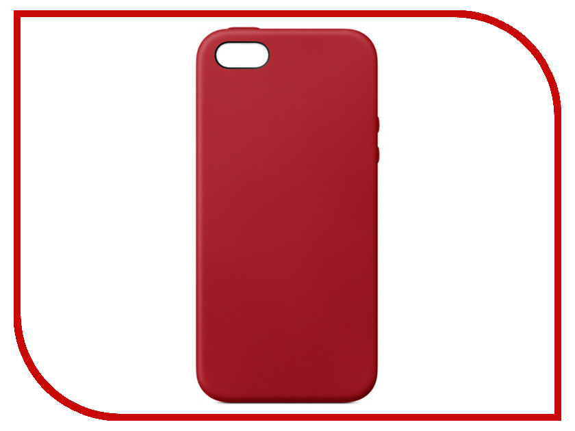 Аксессуар Чехол APPLE iPhone SE Leather Case Red MR622ZM/A