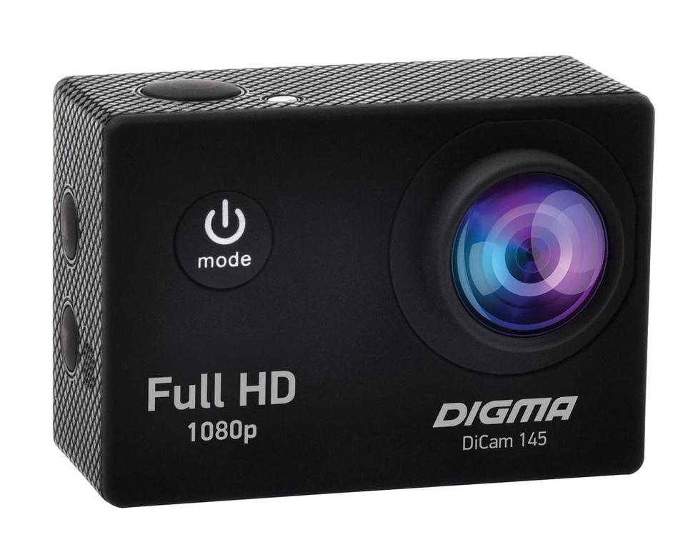 Экшн-камера Digma DiCam 145 Black цена и фото