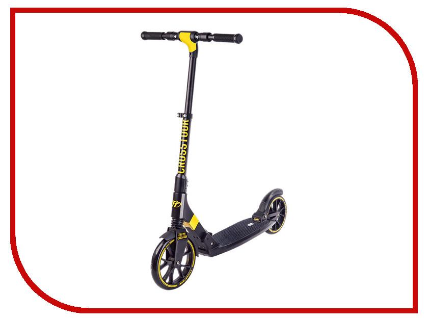 Самокат Tech Team Crosstour Black-Yellow шлем tech team plasma 550 m blue white