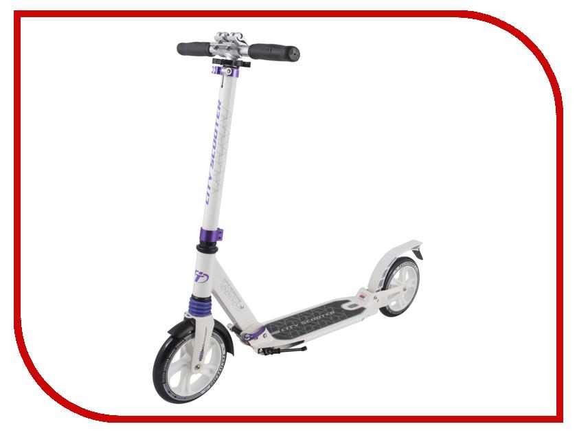 Самокат Tech Team City Scooter White-Purple шлем tech team plasma 550 m blue white