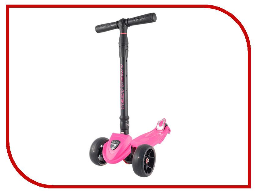 Самокат Tech Team Zig Zag Pink с��мокат tech team super jet 100 pink