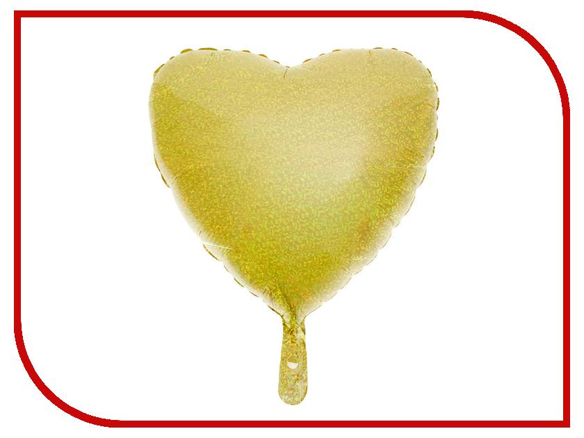 Шар фольгированный СИМА-ЛЕНД Сердце 18-inch Gold 2796447
