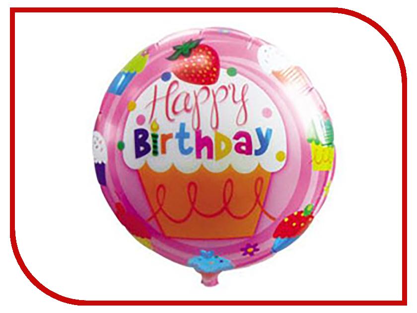 Шар фольгированный Веселая затея 18-inch С днем рождения Кексы 2811248
