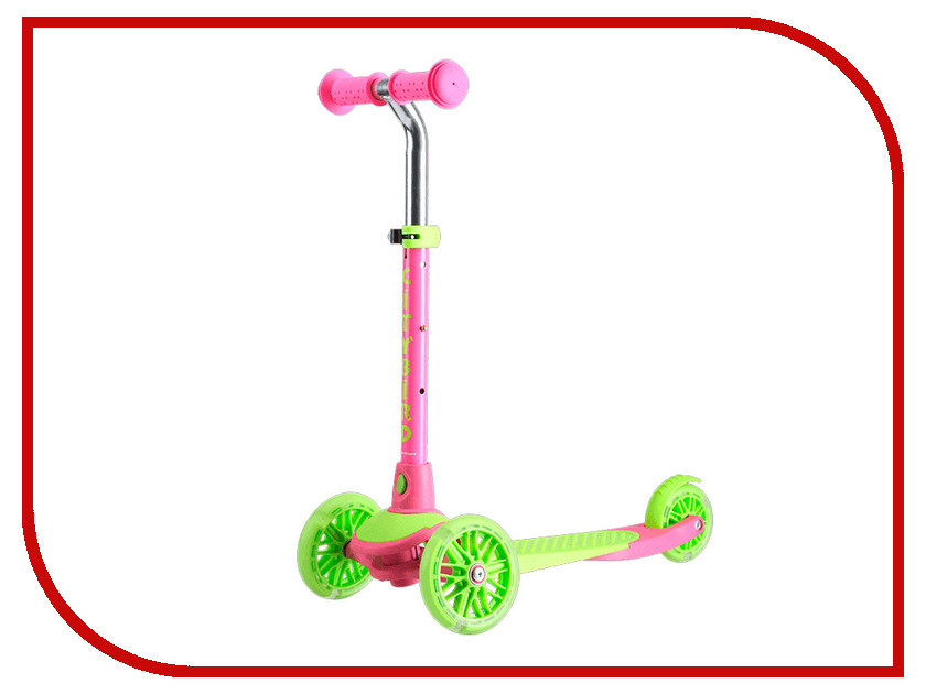 Самокат Tech Team City Bird Pink-Light Green с��мокат tech team super jet 100 pink