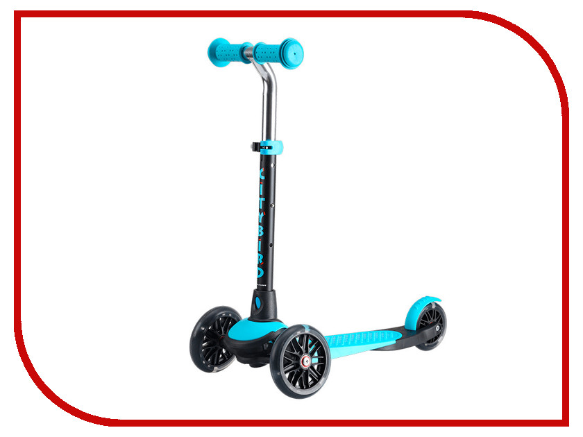 Самокат Tech Team City Bird Black-Light Blue самокат tech team 145 jogger black light blue