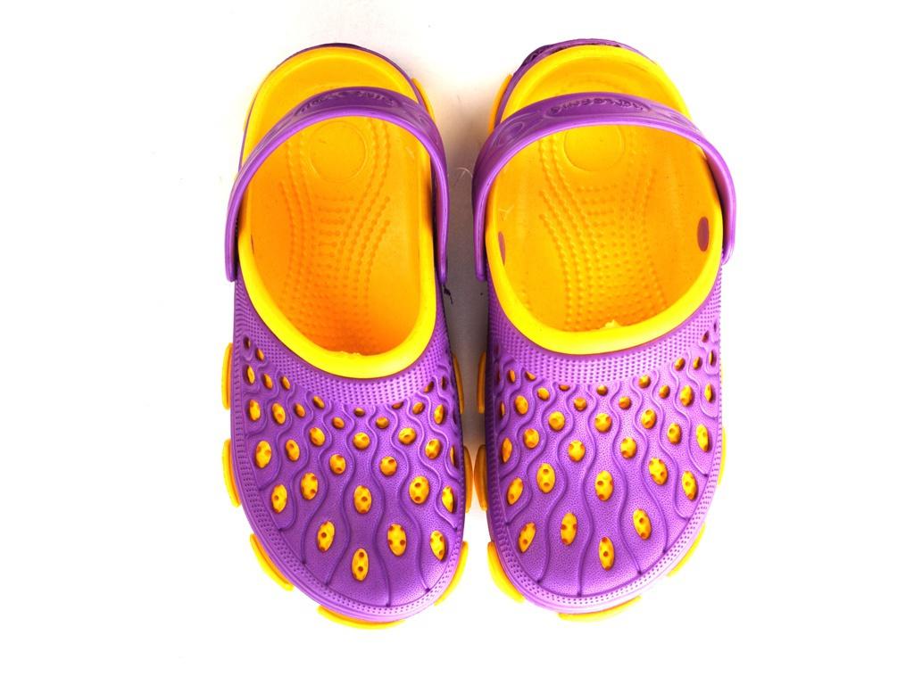 Сабо Колесник Дуэт ЭВА Yellow-Purple р.33 сабо колесник дуэт эва yellow р 34
