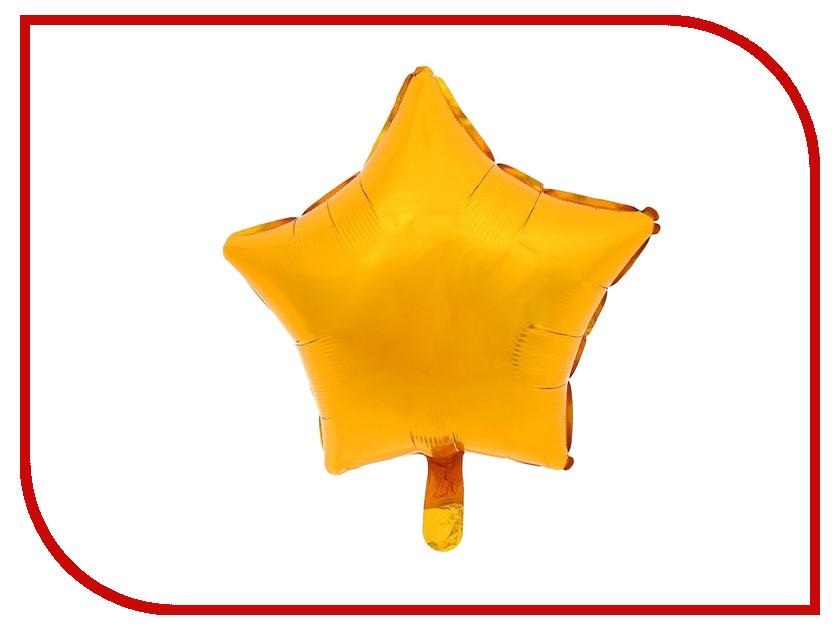 Шар фольгированный Anagram Звезда 19-inch Gold 1352536 воздушный шар anagram