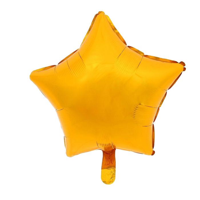 Шар фольгированный Anagram Звезда 19-inch Gold 1352536