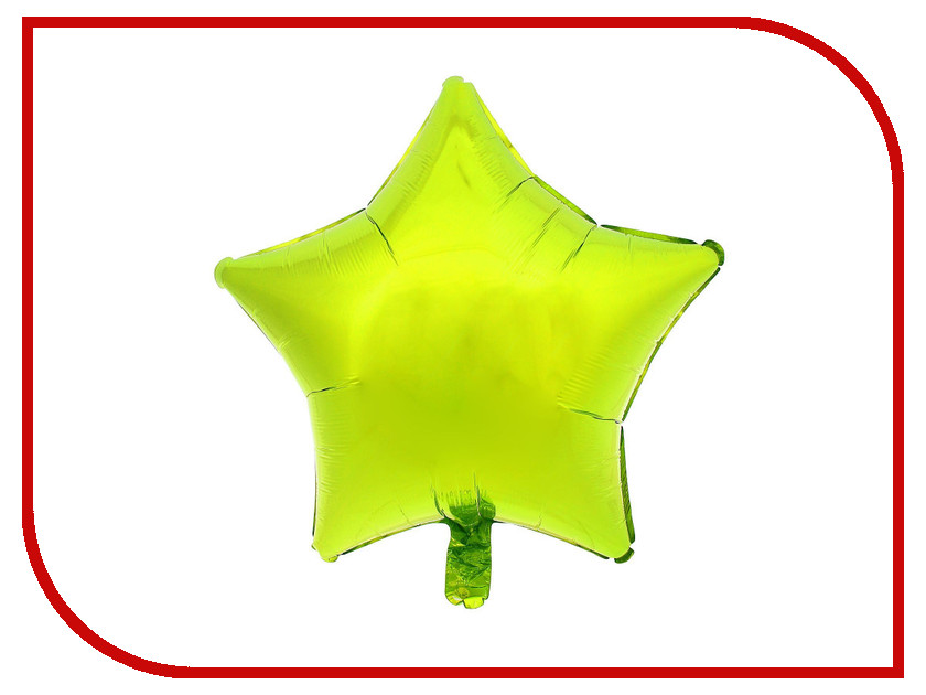 Шар фольгированный Anagram Звезда 19-inch Lime-Green 1352534 23 inch green mahogany ukulele hawaiian guitar uke for beginner adult with bag strap tuner strings picks