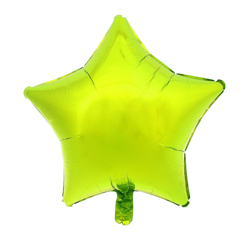 Шар фольгированный Anagram Звезда 19-inch Lime-Green 1352534