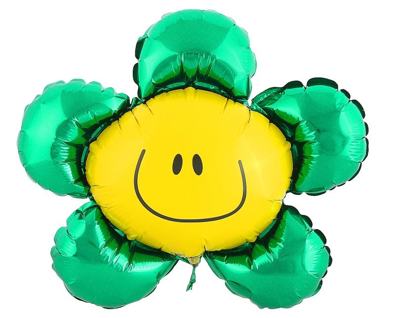 Шар фольгированный Flexmetal Цветок 12-inch Green 1230058