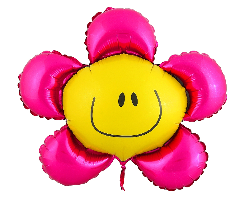 Шар фольгированный Flexmetal Цветок 12-inch Pink 1230060