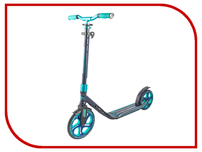 Самокат Tech Team 250 Avantgarde Black-Light Blue самокат tech team 145 jogger black light blue