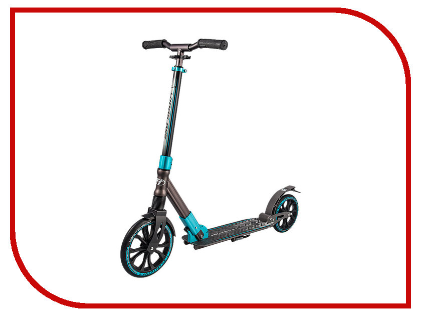 Самокат Tech Team TT 250 Sport Pro Black-Light Blue самокат tech team city bird black light blue