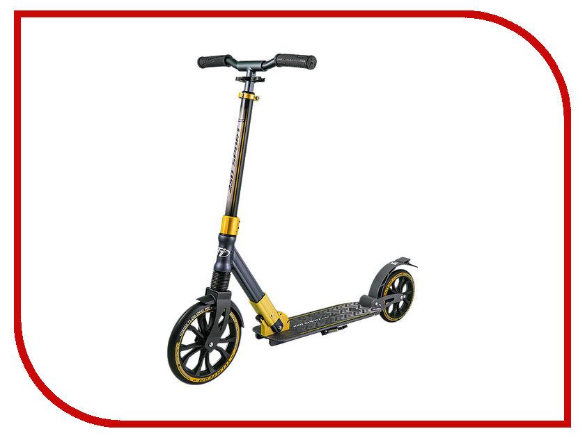 Самокат Tech Team TT 250 Sport Pro Black-Gold cедло велосипедное pro aerofuel tt 142 мм цвет черный