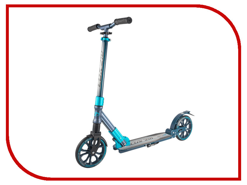 Самокат Tech Team TT 210 Lux Black-Light Blue самокат tech team 145 jogger black light blue