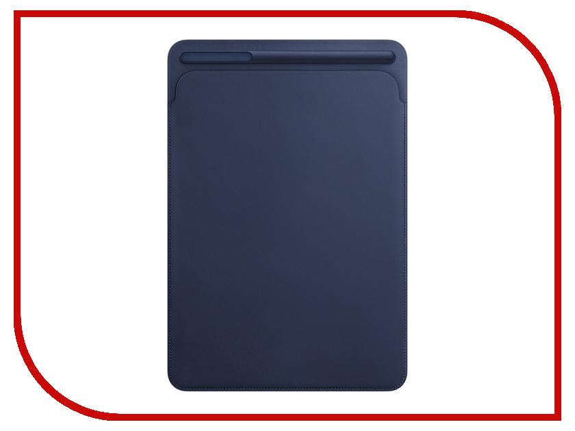 Аксессуар Чехол APPLE iPad Pro 10.5 Leather Sleeve Midnight Blue MPU22ZM/A аксессуар чехол apple iphone 7 leather case midnight blue mmy32zm a