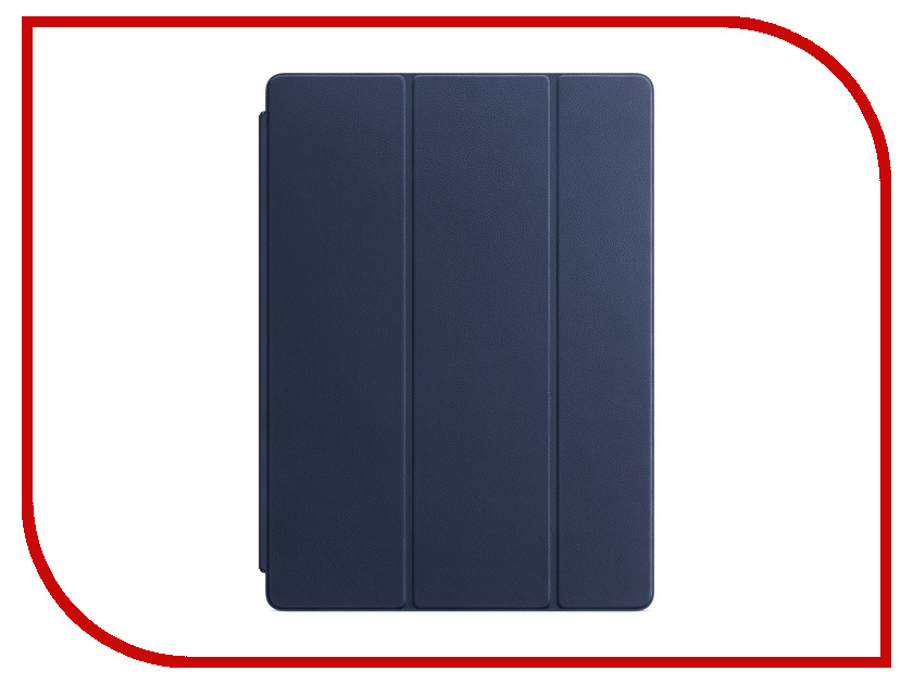 Аксессуар Чехол APPLE iPad Pro 12.9 Leather Smart Cover Midnight Blue MPV22ZM/A luxury retro matte pu leather cover with stand smart wake up sleep flip case for new ipad 9 7 inch 2017 a1822 model