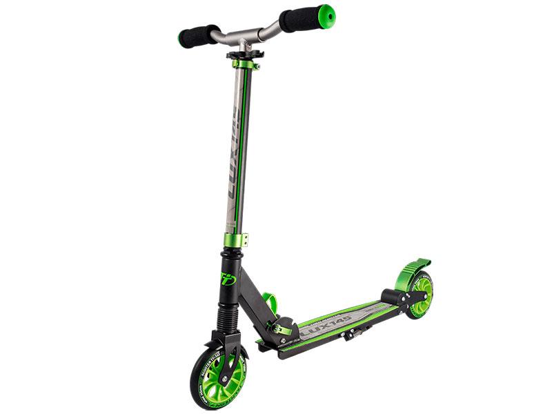 Самокат Tech Team TT 145 Lux 2018 Black-Light Green цена