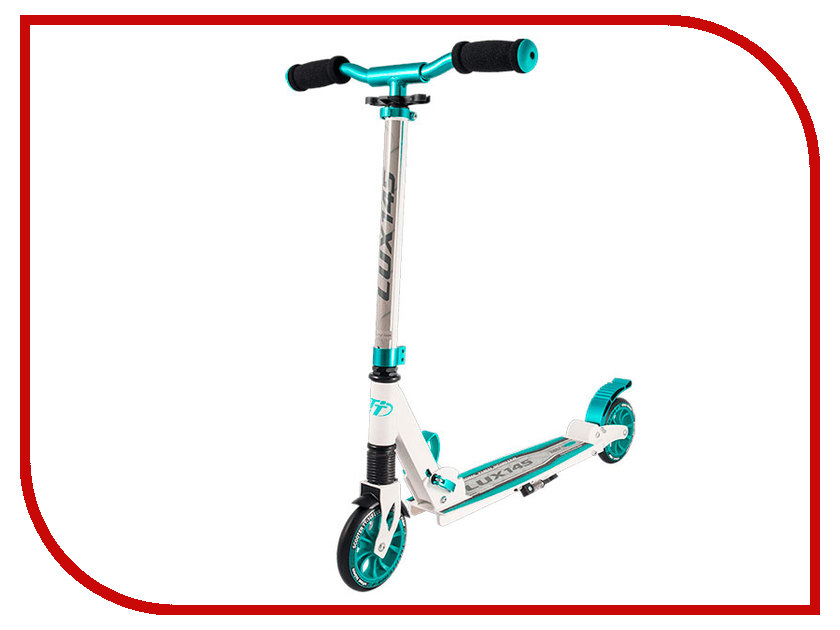 Самокат Tech Team TT 145 Lux 2018 White-Light Blue самокат tech team 145 jogger black light blue