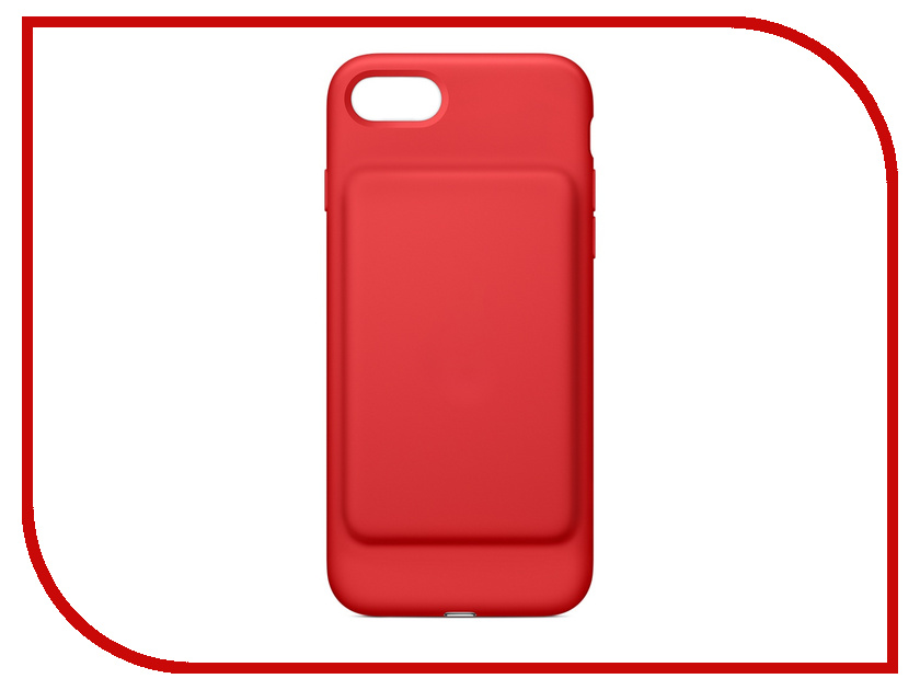 Аксессуар Чехол-аккумулятор APPLE iPhone 7 Smart Battery Case Red MN022ZM/A baseus guards case tpu tpe cover for iphone 7 red