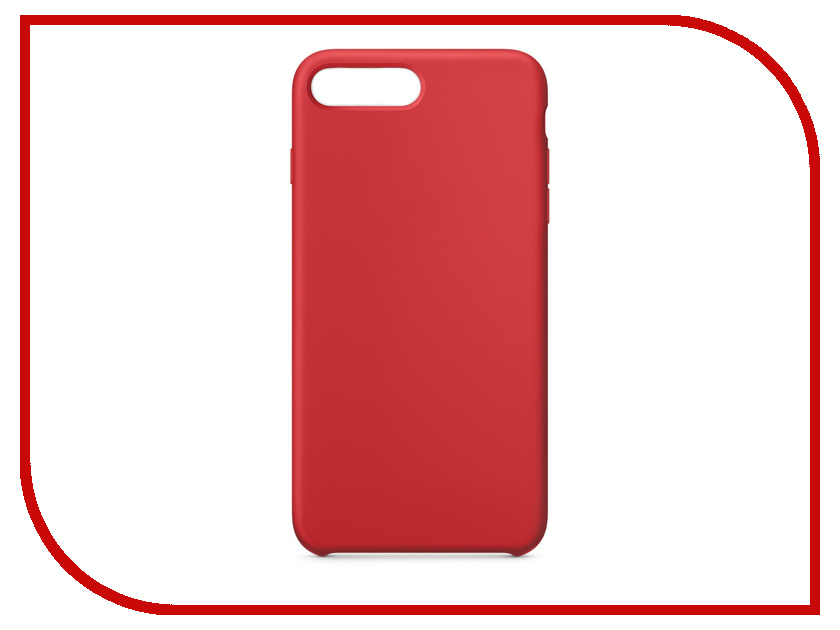 Аксессуар Чехол APPLE iPhone 8 Plus / 7 Plus Silicone Case Red MQH12ZM/A цены