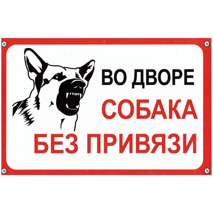 Табличка Mashinokom Собака без привязи 30x19.5cm TPS 004