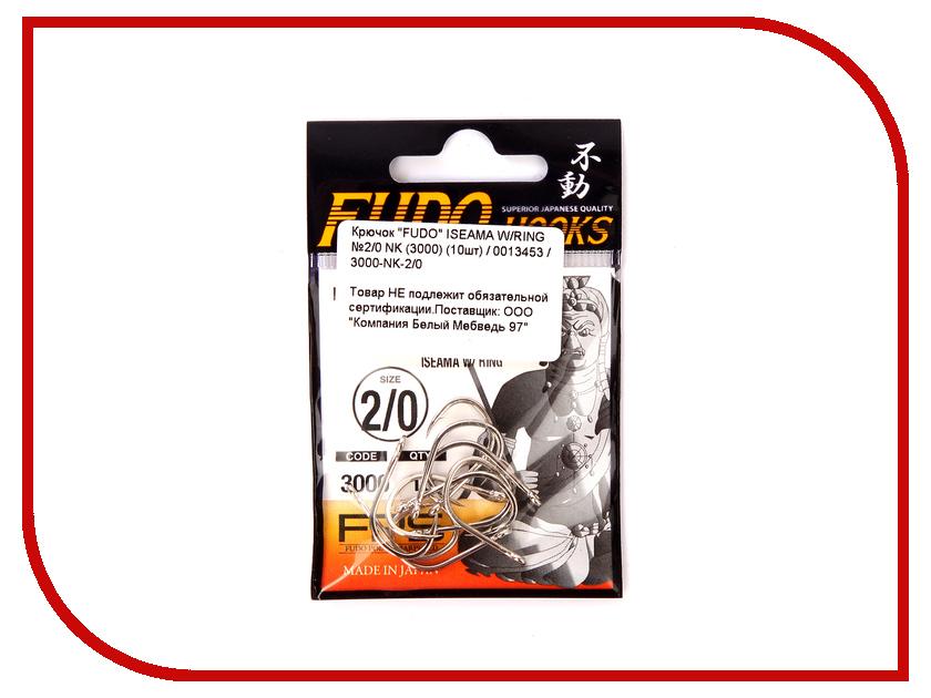 Крючки Fudo Iseama W/Ring №2/0 NK 3000 10шт 3000-NK-2/0
