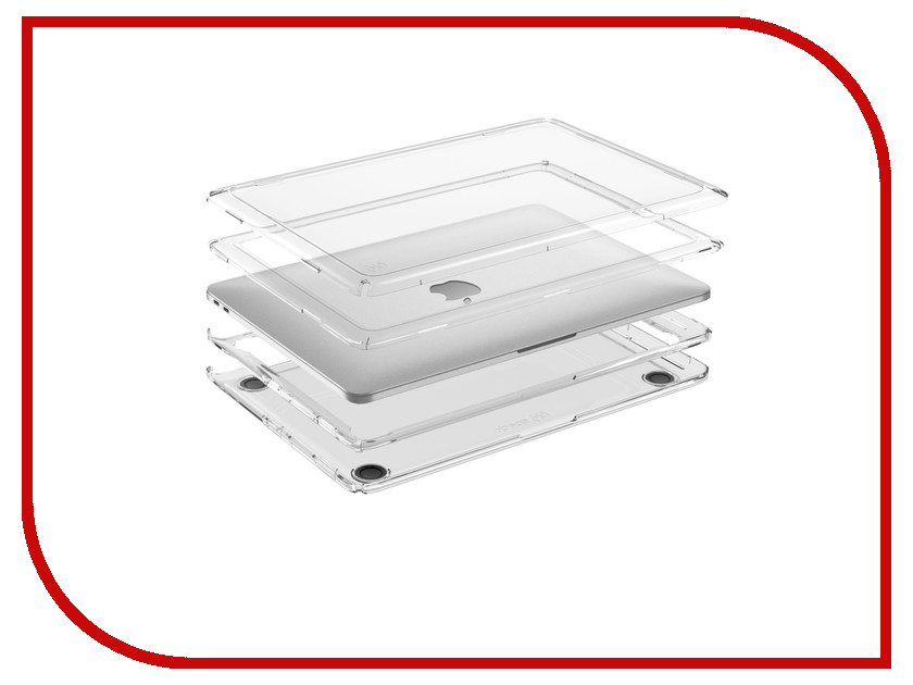 Аксессуар Чехол 13.0 Speck Presidio Clear для APPLE MacBook Pro  Transparent 91219-5085