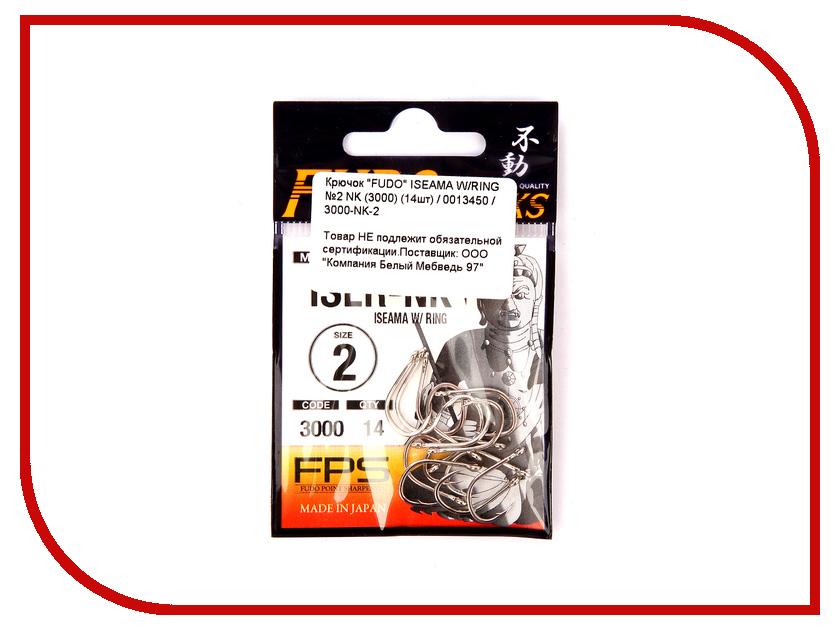 Крючки Fudo Iseama W/Ring №2 NK 3000 14шт 3000-NK-2