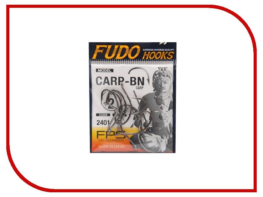 Крючки Fudo Carp №2 BN 2401 9шт 2401-BN-2