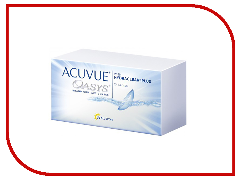 Контактные линзы Johnson & Johnson Acuvue Oasys with Hydraclear Plus (24 линзы / 8.4 / -1.25) контактные линзы johnson