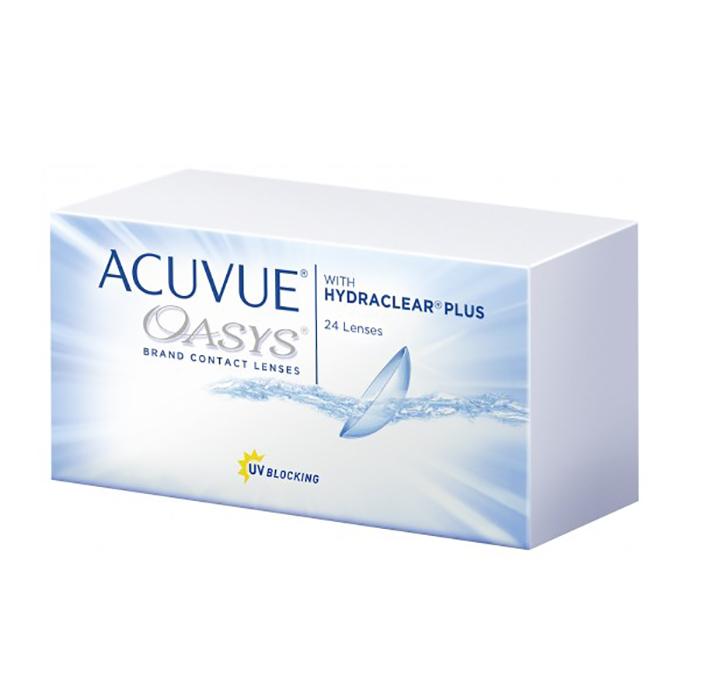 Контактные линзы Johnson & Acuvue Oasys with Hydraclear Plus (24 / 8.4 -2.25)
