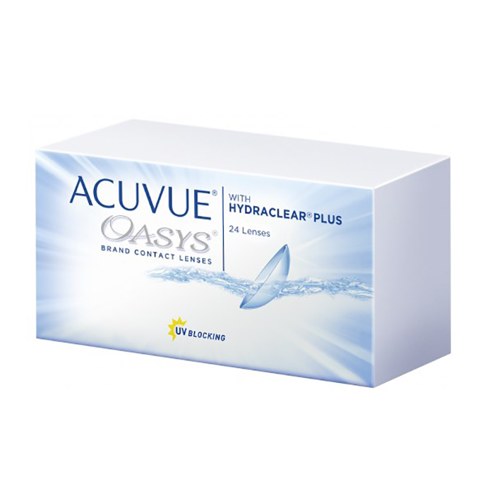 Контактные линзы Johnson & Acuvue Oasys with Hydraclear Plus (24 / 8.4 -2.5)
