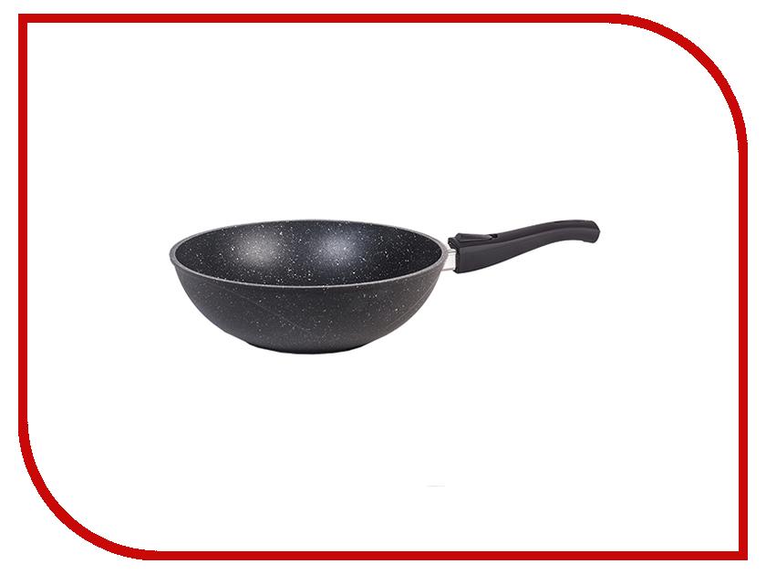 Сковорода Мечта 28cm Вок Гранит Со съемной ручкой Black о78802 сковороды мечта сковорода вок гранит star 28 см