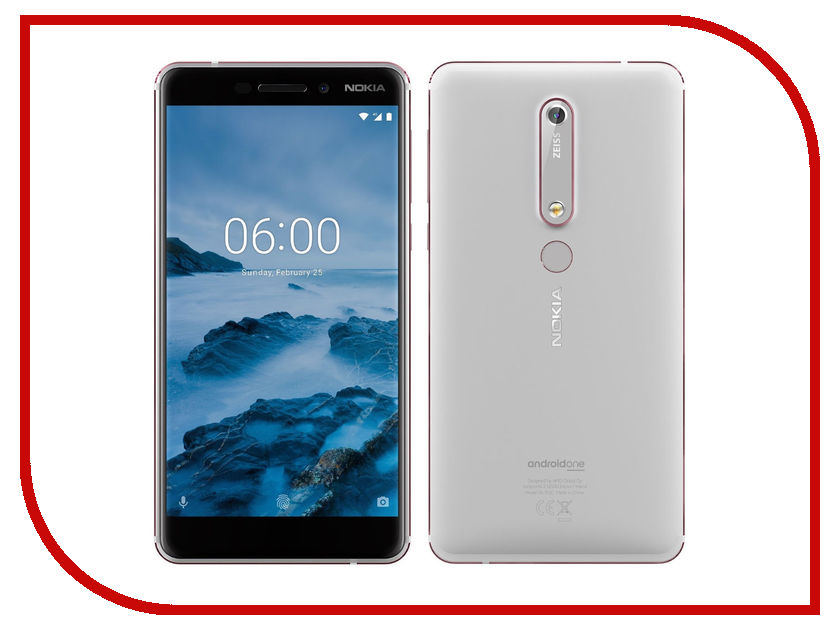 Сотовый телефон Nokia 6.1 Dual Sim 32Gb White remax protective silicone back case w screen protector film for nokia lumia 820 translucent white
