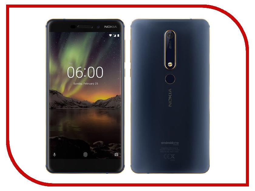 Сотовый телефон Nokia 6.1 Dual Sim 32Gb Blue мобильный телефон nokia 130 dual sim 2017 grey