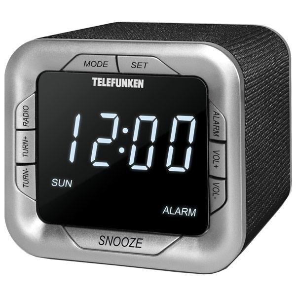 Часы Telefunken TF-1505 Black-White радиомагнитола cd telefunken tf csrp3480 white