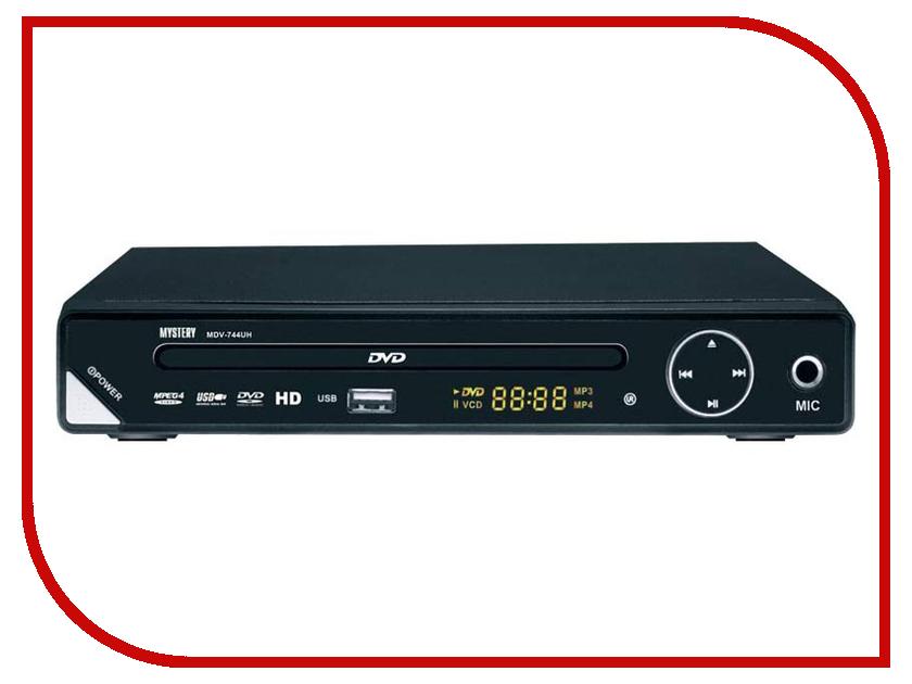 Плеер Mystery MDV-744UH проигрыватель dvd mystery mdv 742um black