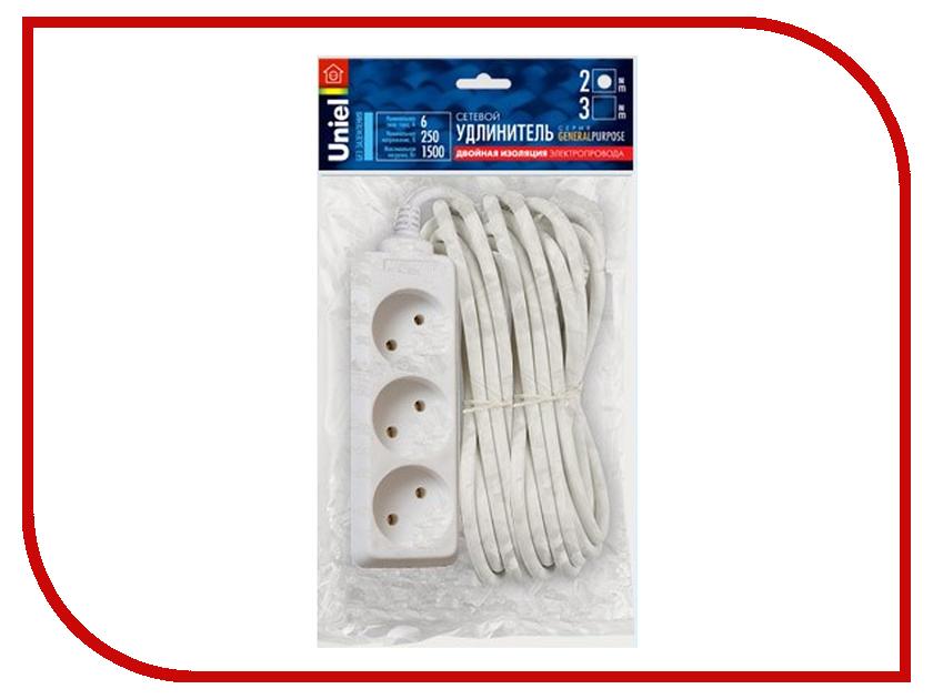 Удлинитель Uniel General 3 Sockets 2m White S-CP3-2 general fiasco general fiasco buildings