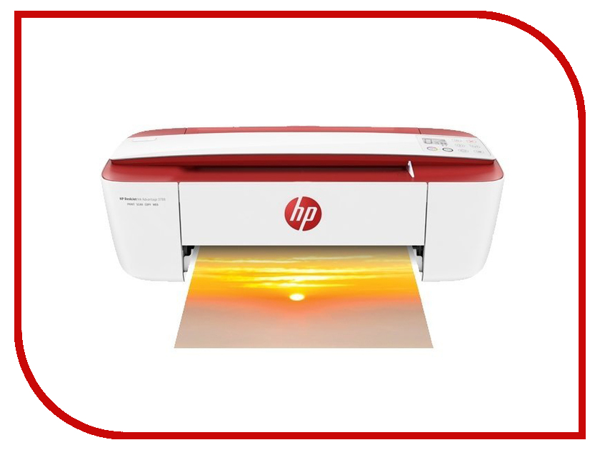 МФУ HP Deskjet Ink Advantage 3788 T8W49C White-Red hp deskjet ink advantage 3545