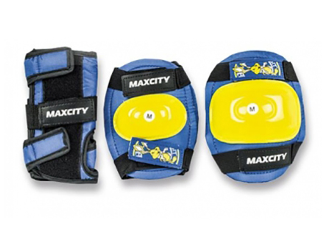 Комплект защиты Maxcity Little Rabbit Blue M MC-PH000036-BD-M шлем maxcity roller stike m light blue