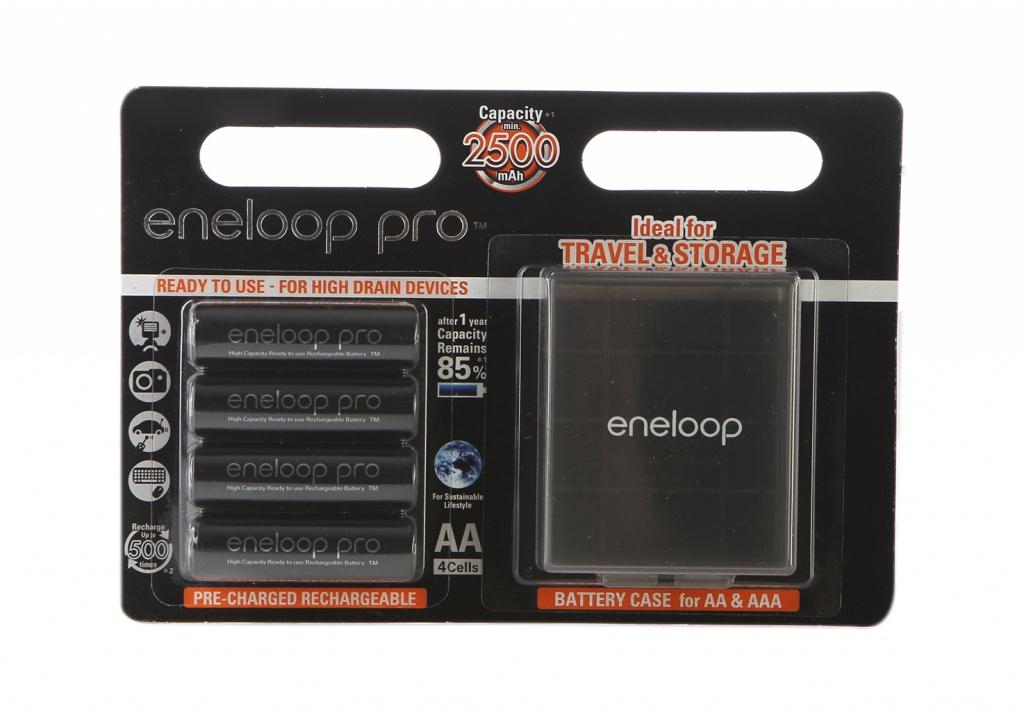 Аккумулятор AA - Panasonic Eneloop Pro 2450 mAh (4 штуки) BK-3HCDEC4BE