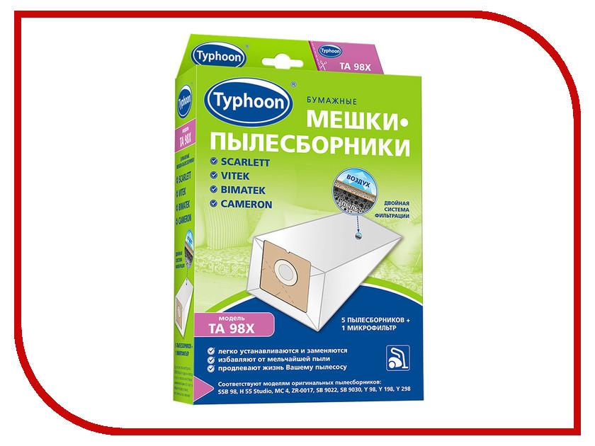 все цены на Мешки бумажные Тайфун TA 98X 5шт + 1 микрофильтр Scarlett / Vitek / Bimatek / Cameron 4660003391954
